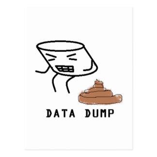Data Dump Postcard