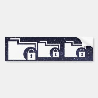 Data Locks Pictogram Car Bumper Sticker