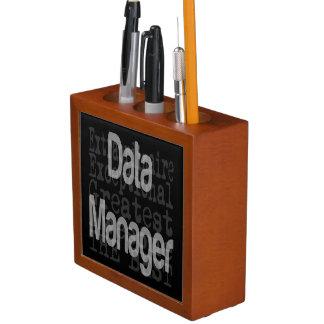 Data Manager Extraordinaire Desk Organiser