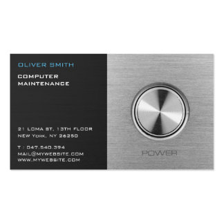 Data-processing calling card maintenance pack of standard business cards