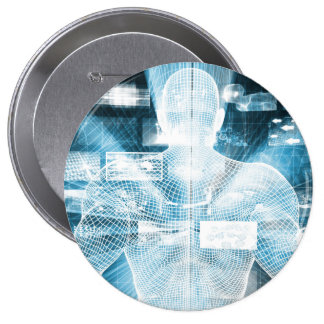Data Protection and System Integrity as a Concept 10 Cm Round Badge