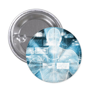 Data Protection and System Integrity as a Concept 3 Cm Round Badge