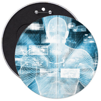 Data Protection and System Integrity as a Concept 6 Cm Round Badge