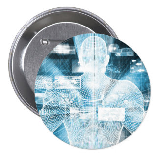 Data Protection and System Integrity as a Concept 7.5 Cm Round Badge