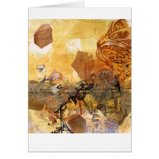 Data Pulse Abstract Art Card