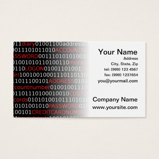 Data Security Business Card (white)