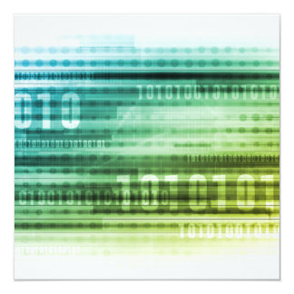 Data Security over the Internet and Personal Info 13 Cm X 13 Cm Square Invitation Card