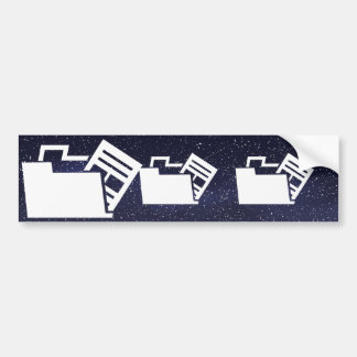 Data Uninstalls Symbol Bumper Sticker