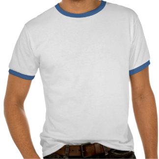 DATA WRANGLER ringer T-shirt w. blue/green design