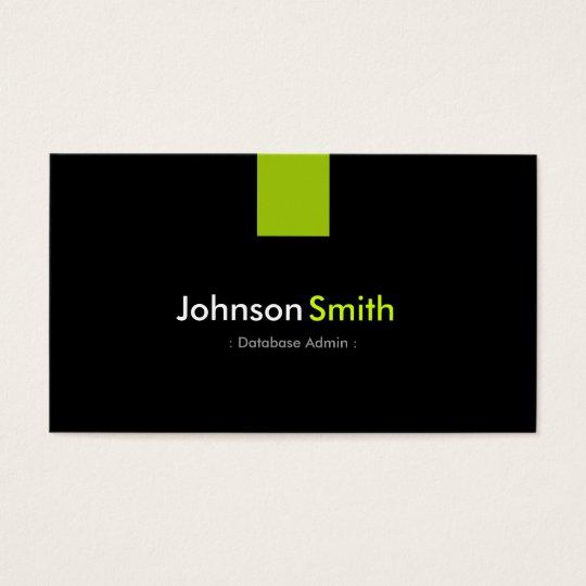Database Admin Modern Mint Green Business Card