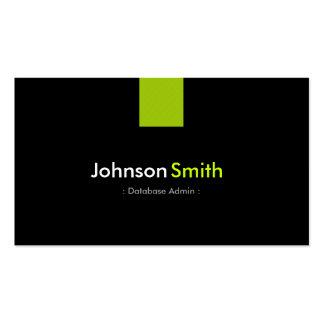 Database Admin Modern Mint Green Business Card Template