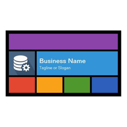 Create your own big data analyst business cards for Business card database