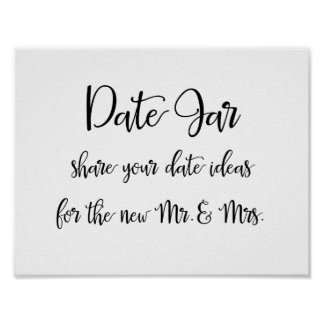 Date jar ideas wedding sign
