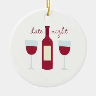 Date Night Round Ceramic Decoration