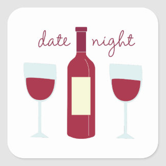 Date Night Square Sticker