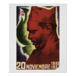 Date of Durruti's death on_Propaganda Poster