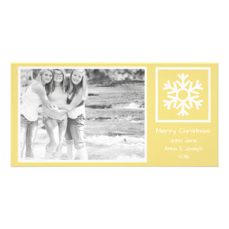 Dated Lone Snowflake Christmas Picture (Gold) Picture Card
