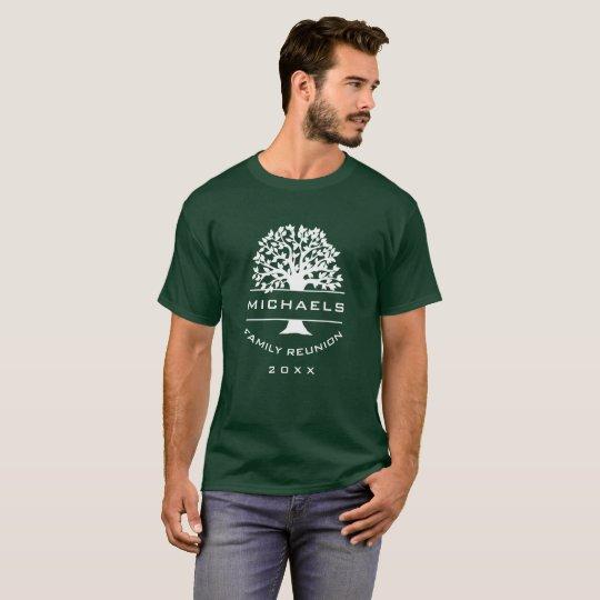 Dated Silhouette Mens Family Reunion Souvenir Gift T-Shirt