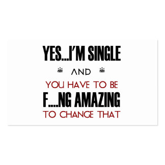 Dating Agency Phrase Yes I'm Single Card Business Cards