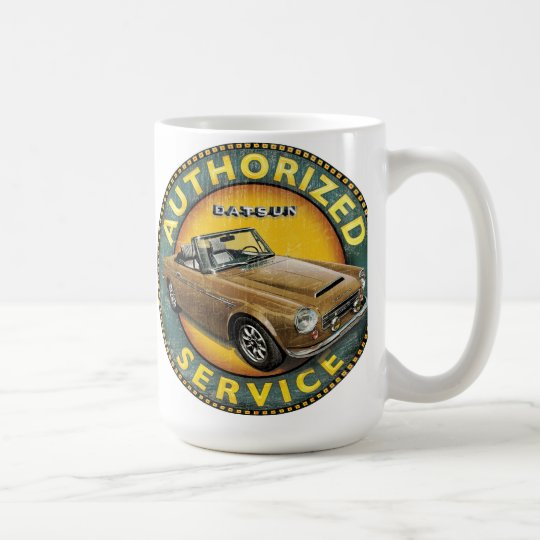 Datsun 2000 roadster service sign coffee mug
