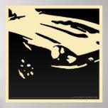 Datsun 240Z Detail - Black on light poster
