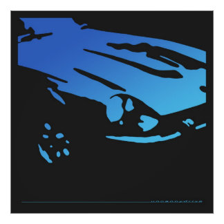 Datsun 240Z Detail - Blue poster