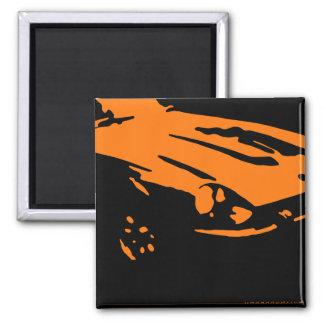 Datsun 240Z Detail, Orange on dark Magnet