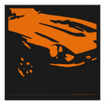 Datsun 240Z Detail - Orange poster