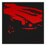 Datsun 240Z Detail - Red poster
