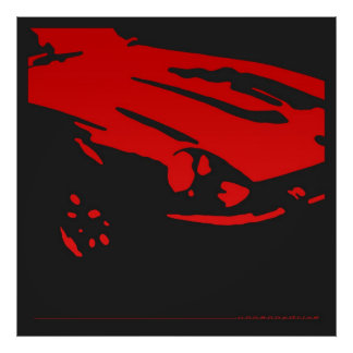 Datsun 240Z Detail - Red poster
