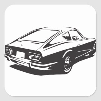 Datsun z car square sticker