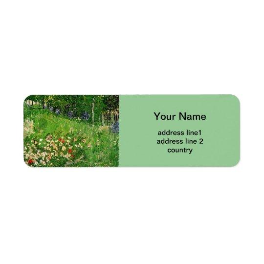 Daubigny's Garden, Vincent van Gogh Return Address Label
