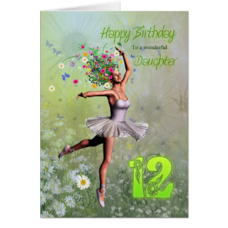 Daughter age 12, flower fairy birthday card