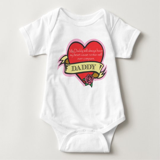 Daughter and Daddy Tattoo Heart Shirt