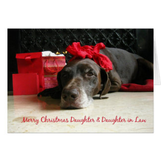 daughter and daughter-in-law  Merry Christmas card