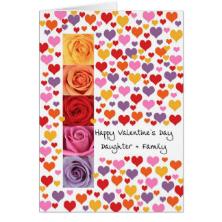 Daughter and family Valentine´s Day Greeting Card