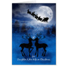 Daughter and her Wife Kissing Reindeer Christmas Card