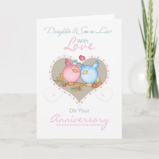 Daughter And Son-in-Law Anniversary Card With Love