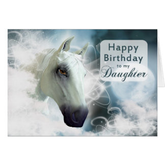 Daughter birthday, Arabian spirit Horse Greeting Card