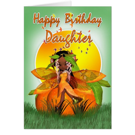 Daughter Birthday Card - Moonies Citrus Fairy -