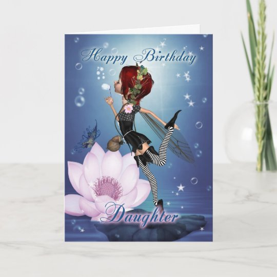 Daughter Birthday Card With Fantasy Water Fairy