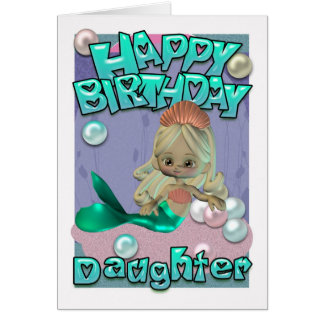 Daughter Birthday Card With Mermaid