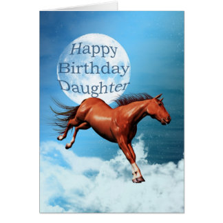 Daughter birthday card with spirit horse
