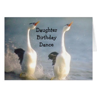 DAUGHTER BIRTHDAY DANCE GREETING CARDS