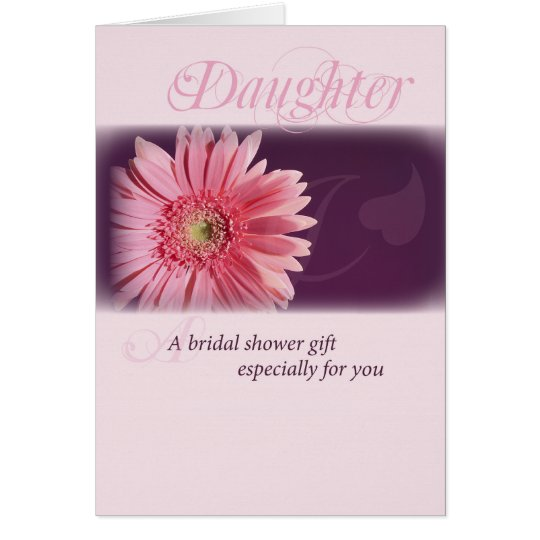 Daughter, Bridal Shower Pink Daisy Card