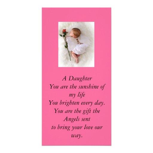 Daughter Card Photo Greeting Card