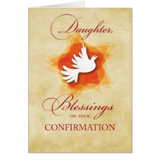 Daughter, Confirmation Congratulations Blessings Card