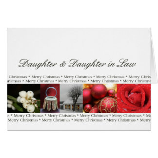 Daughter & Daughter in Law Christmas Greeting Card