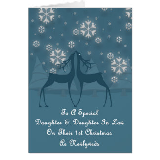 Daughter & Daughter In Law Reindeer Christmas Card