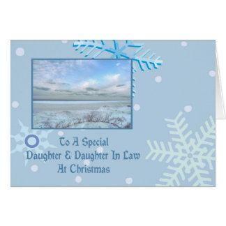 Daughter & Daughter In Law Winter Lake Christmas Card